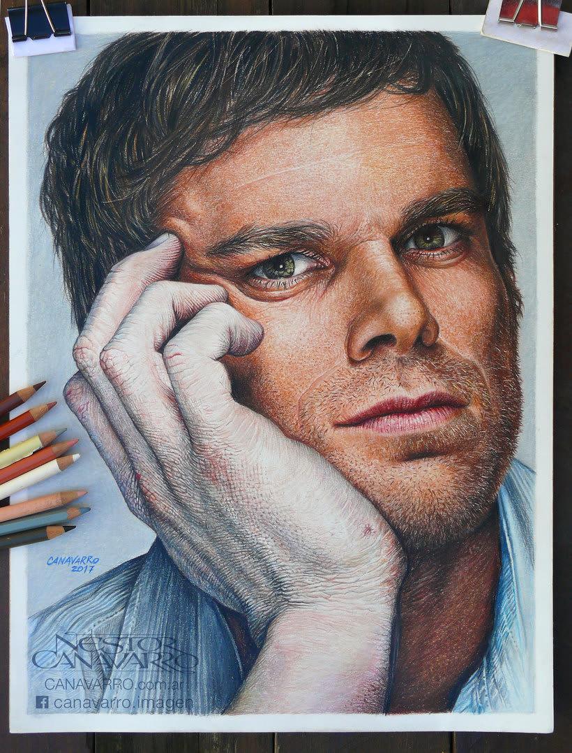 Michael C. Hall (Dexter) en lápices de colores 1