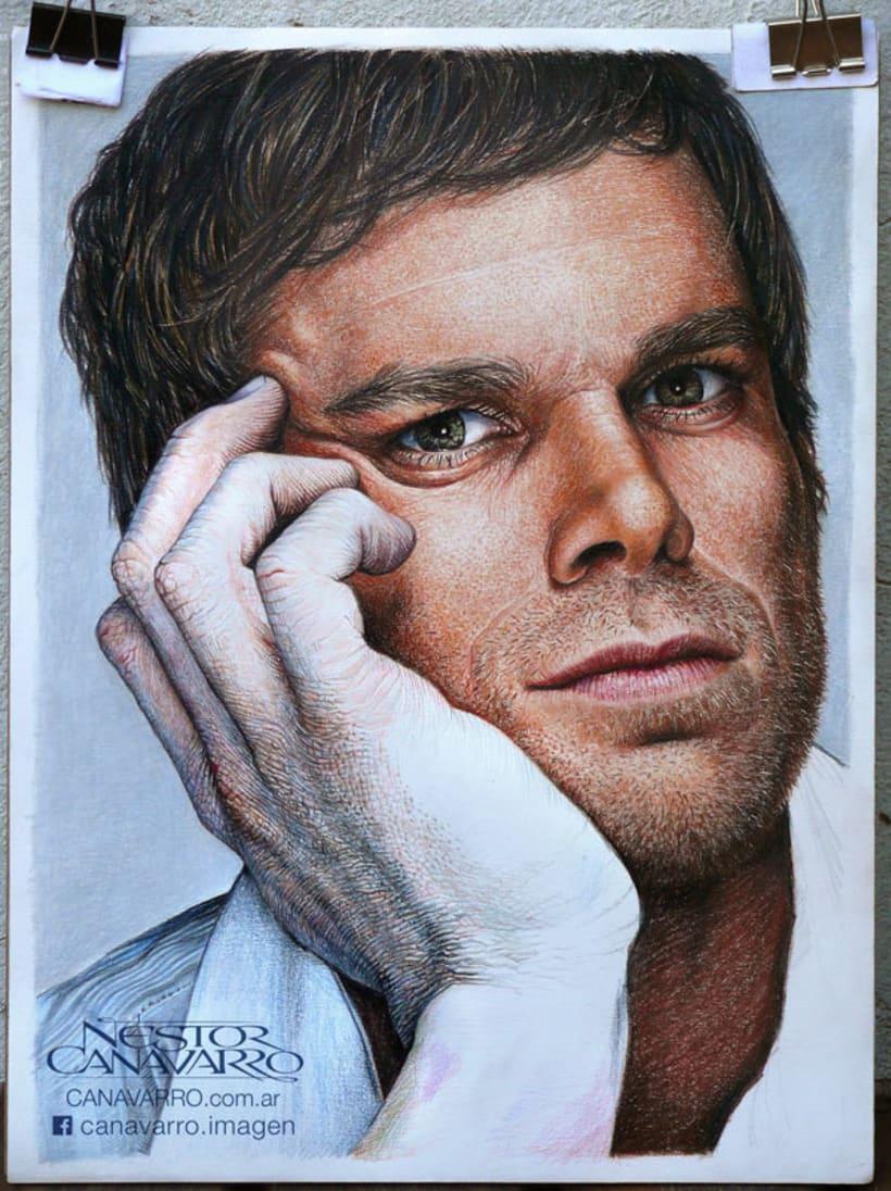 Michael C. Hall (Dexter) en lápices de colores 2