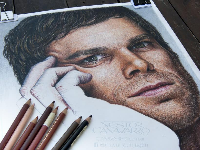Michael C. Hall (Dexter) en lápices de colores 3