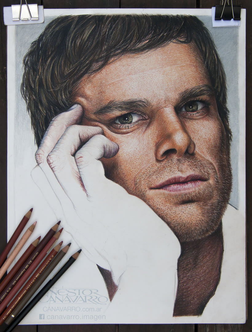 Michael C. Hall (Dexter) en lápices de colores 4