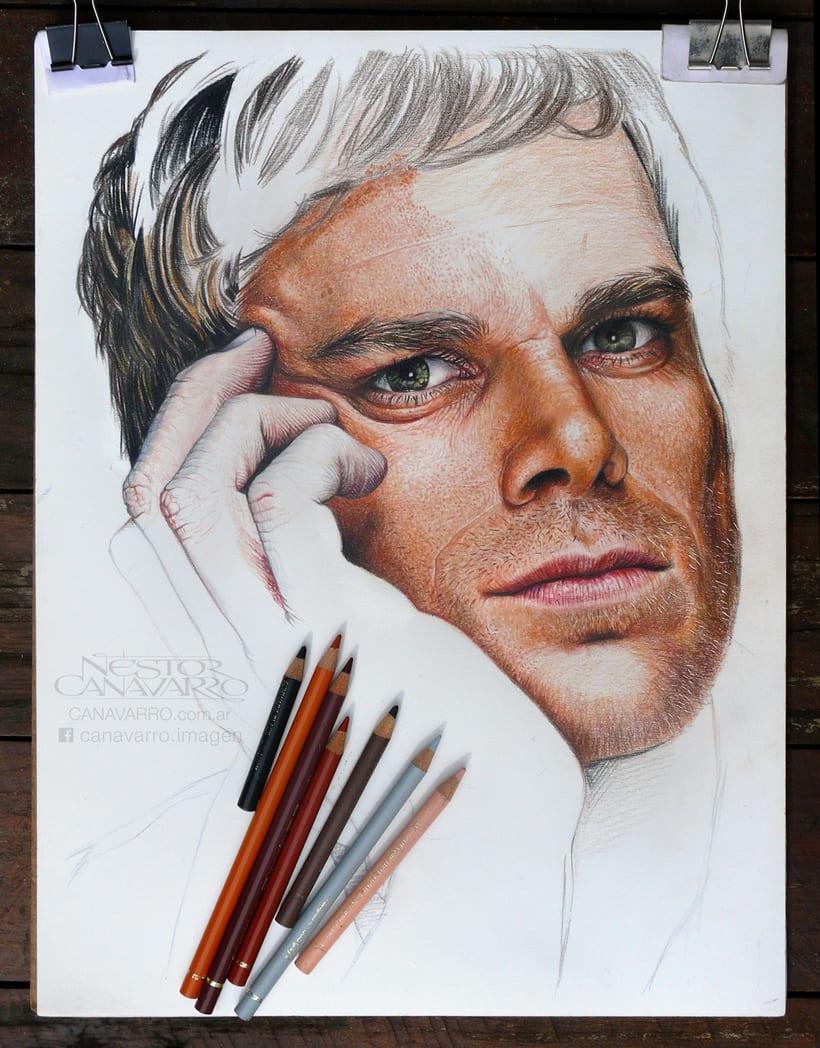 Michael C. Hall (Dexter) en lápices de colores 6