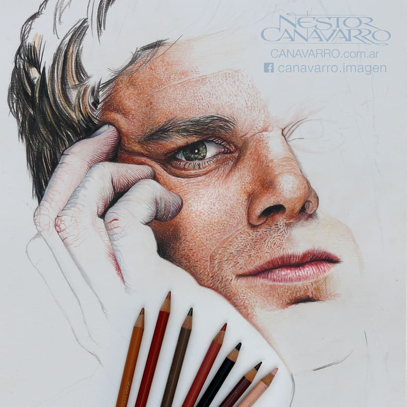 Michael C. Hall (Dexter) en lápices de colores 7