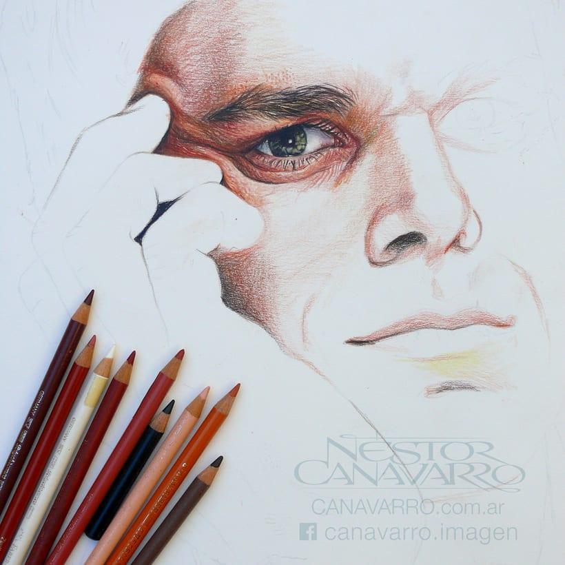 Michael C. Hall (Dexter) en lápices de colores 8