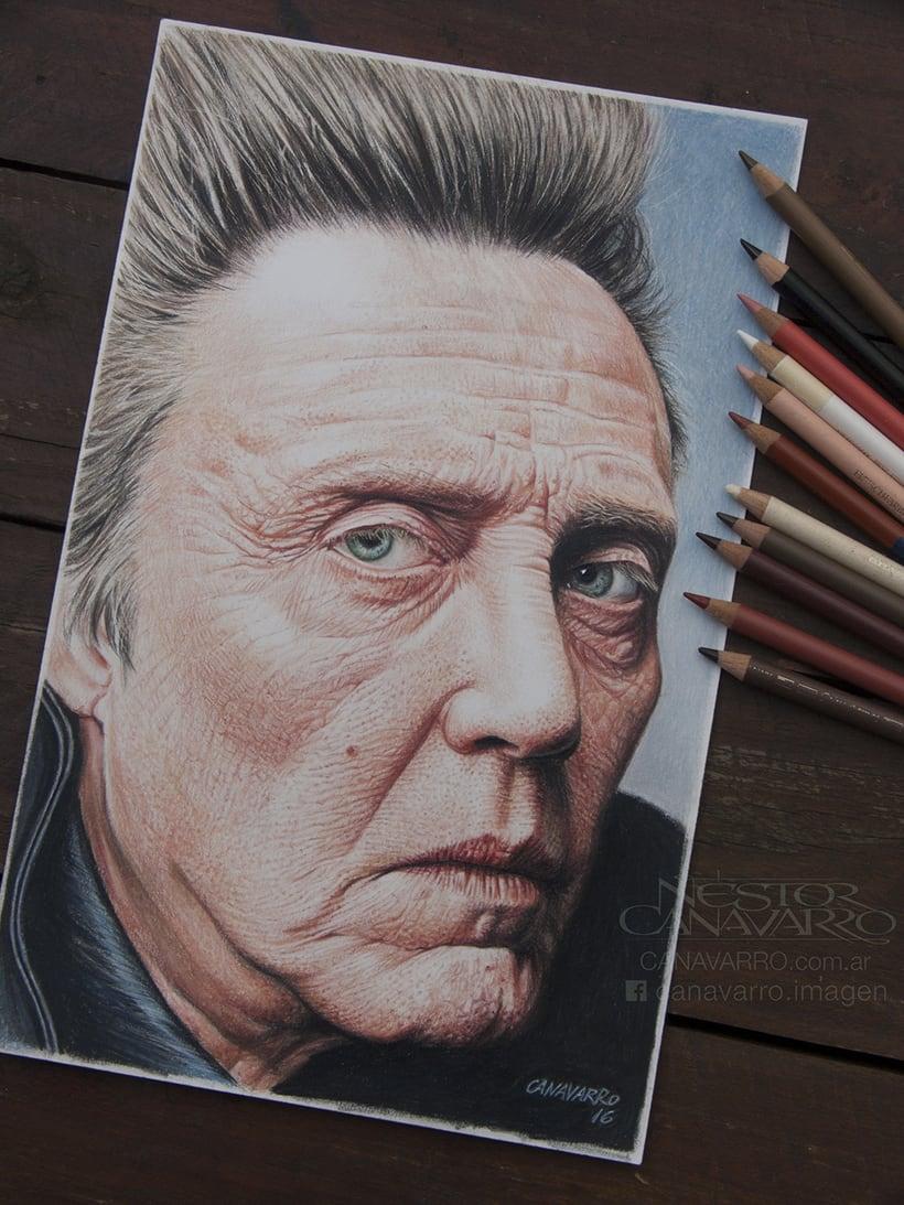 Christopher Walken en lápices de colores -1