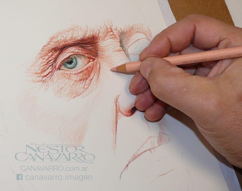 Christopher Walken en lápices de colores 2