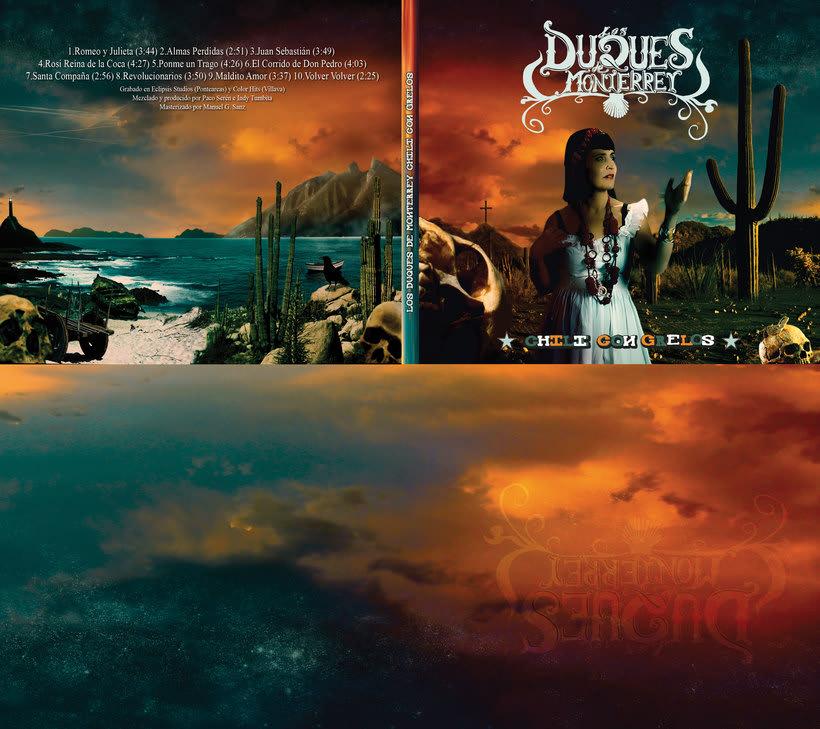 Duques de Monterrey Album Cover Matte painting. 0