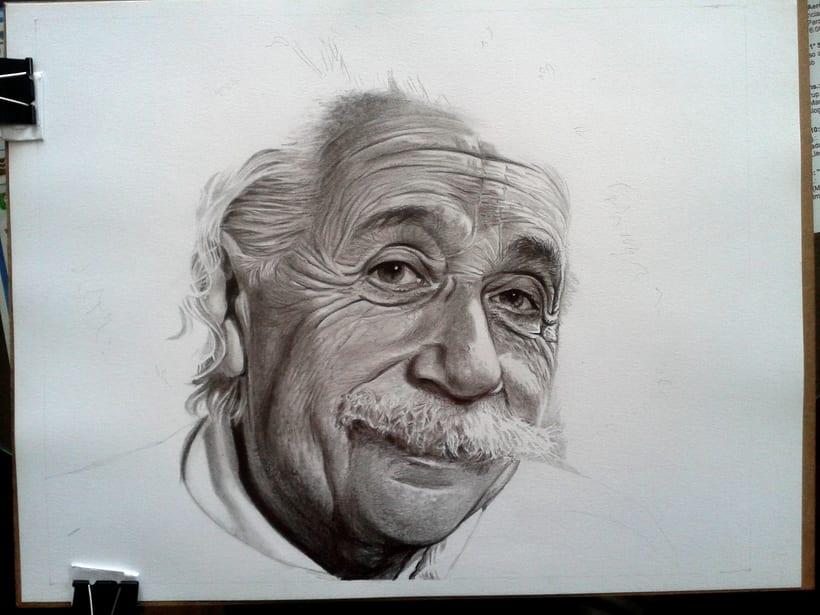 Albert Einstein en Lápices de Grafito 0