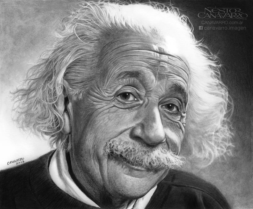 Albert Einstein en Lápices de Grafito 2