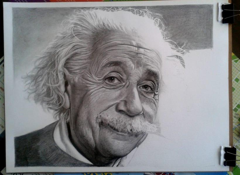 Albert Einstein en Lápices de Grafito 1
