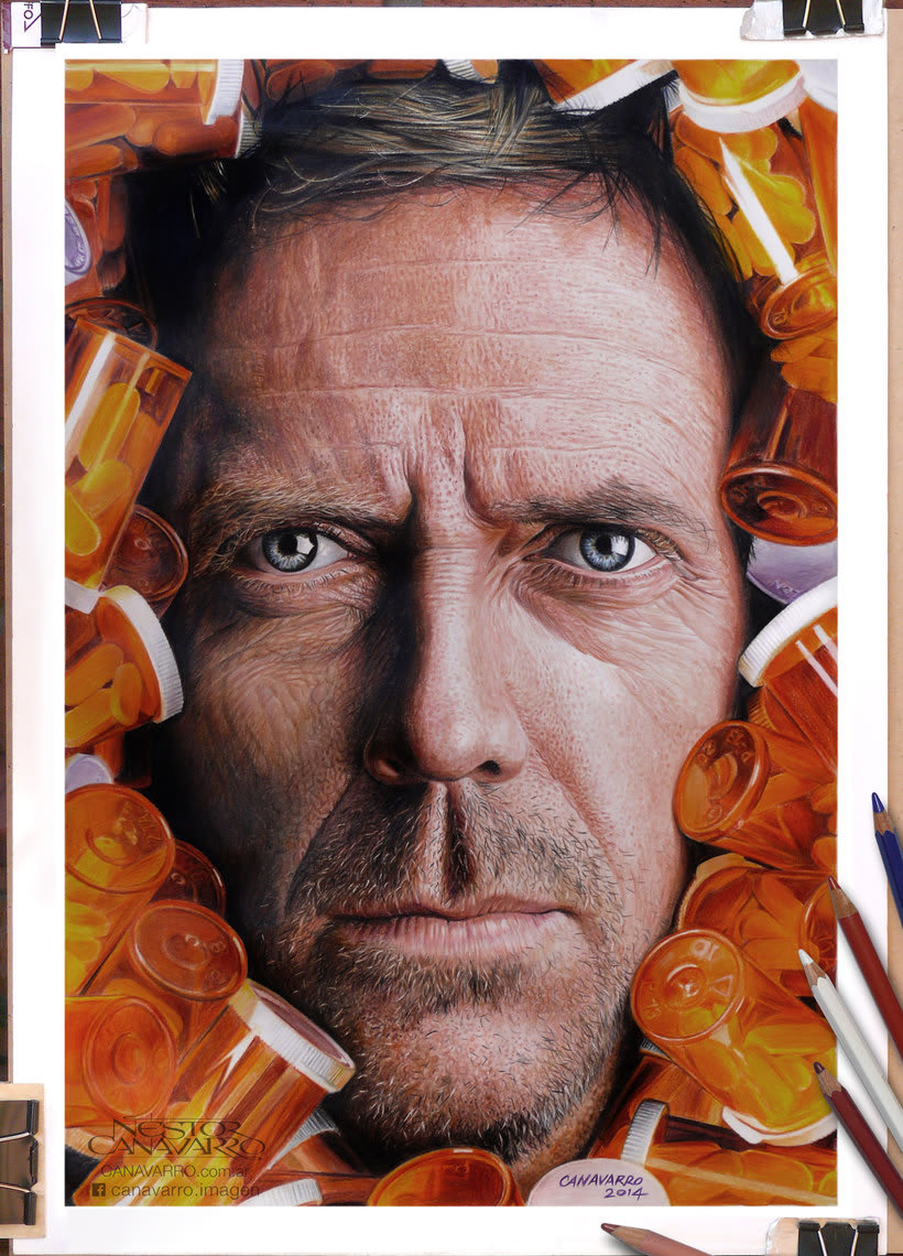 Hugh Laurie (Dr. House) en Lápices de Colores 0