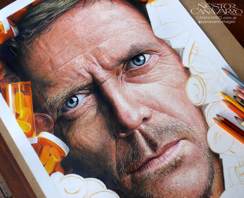 Hugh Laurie (Dr. House) en Lápices de Colores 5