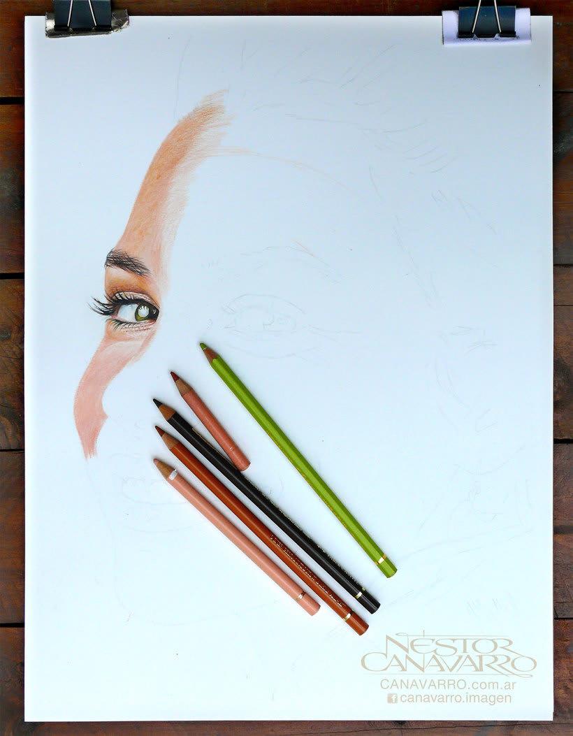Evangelline Lilly en Lápices de Colores 1