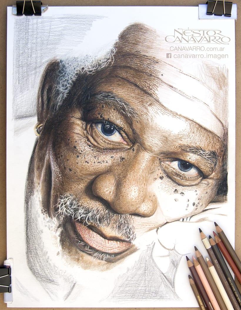Morgan Freeman en Lápices de Colores 3
