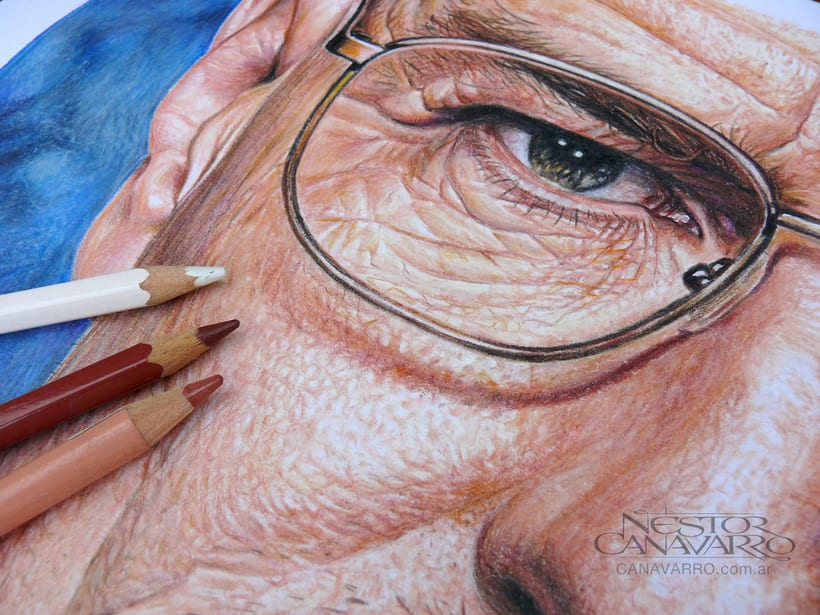Bryan Cranston (Walter White). Lápices de Colores sobre papel 5
