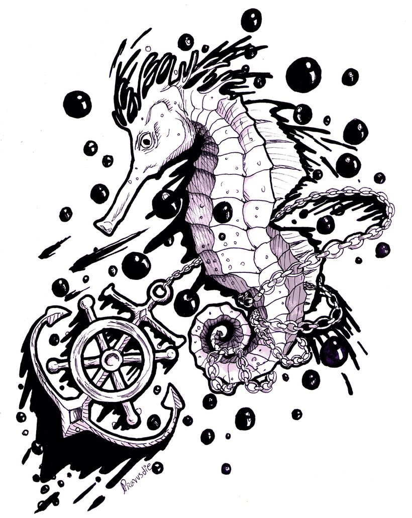Bubble ink on the sea 1