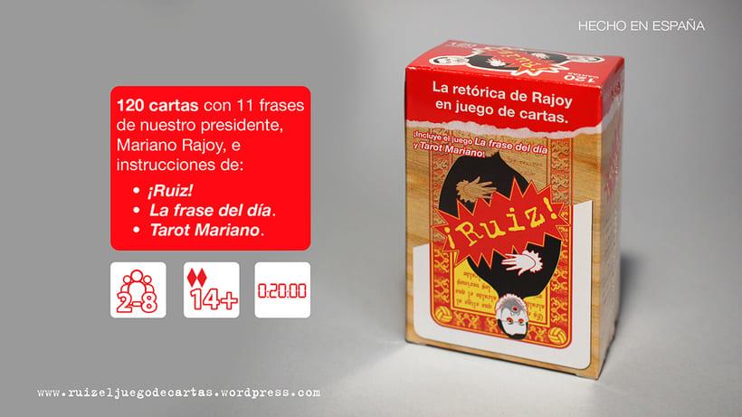 ¡Ruiz!, el juego de cartas 1