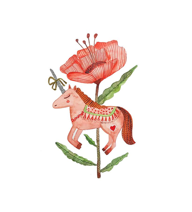 Entre unicornios y flores -1
