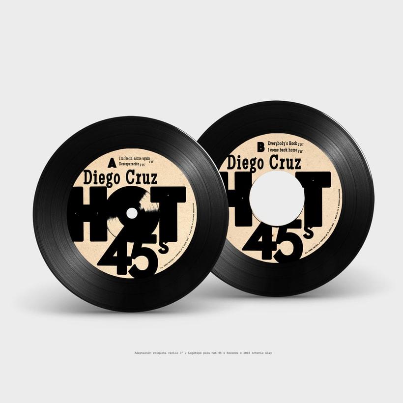 Hot 45´s Records Logo 5