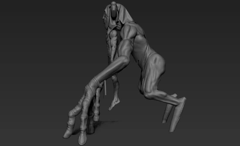 Practica de escultura con zbrush, concept art por Dhenzel Obeng 2