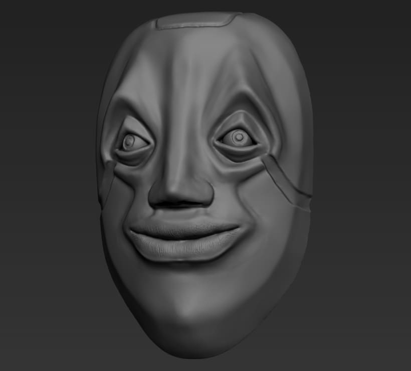 Practica de escultura con zbrush, concept art por Dhenzel Obeng 3