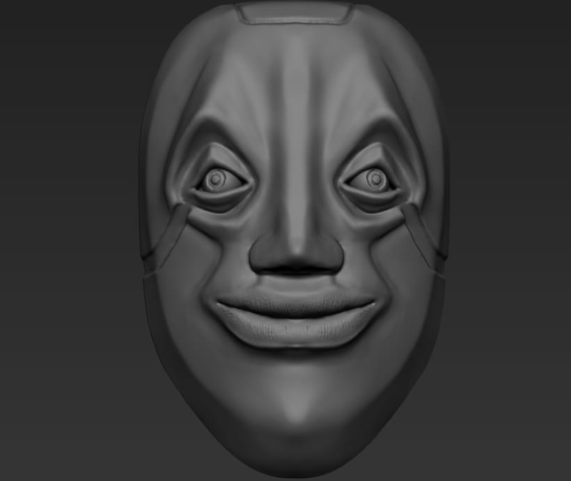 Practica de escultura con zbrush, concept art por Dhenzel Obeng 4