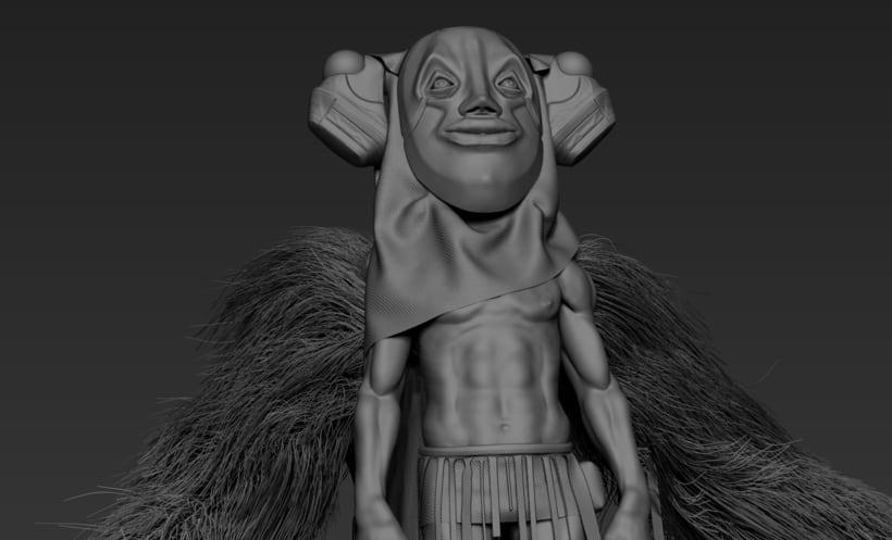 Practica de escultura con zbrush, concept art por Dhenzel Obeng 9