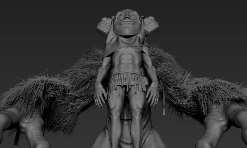 Practica de escultura con zbrush, concept art por Dhenzel Obeng 10