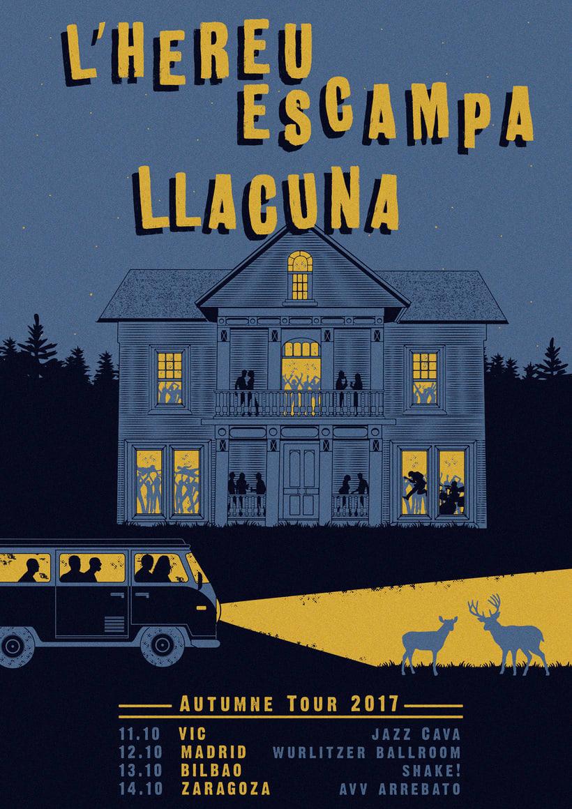 LLACUNA · L'HEREU ESCAMPA · Tour poster (Jamie 4 president) -1