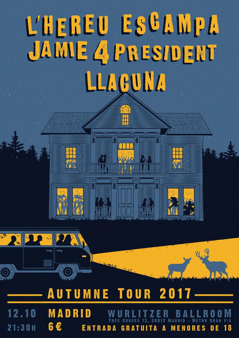 LLACUNA · L'HEREU ESCAMPA · Tour poster (Jamie 4 president) 0