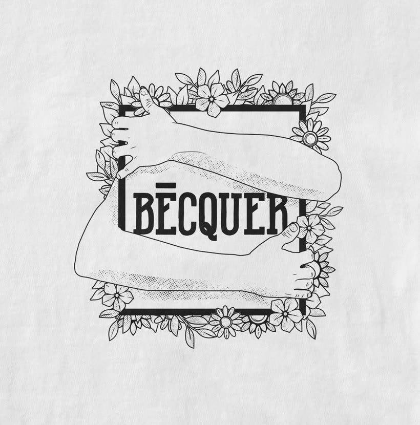 BÉCQUER -  THE 9TH SPRING · Band t-shirt 0