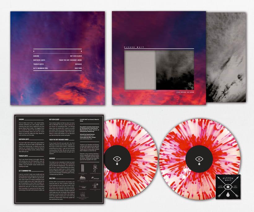 PLEASE WAIT - Look Around See Inside - Vinyl artwork  -1