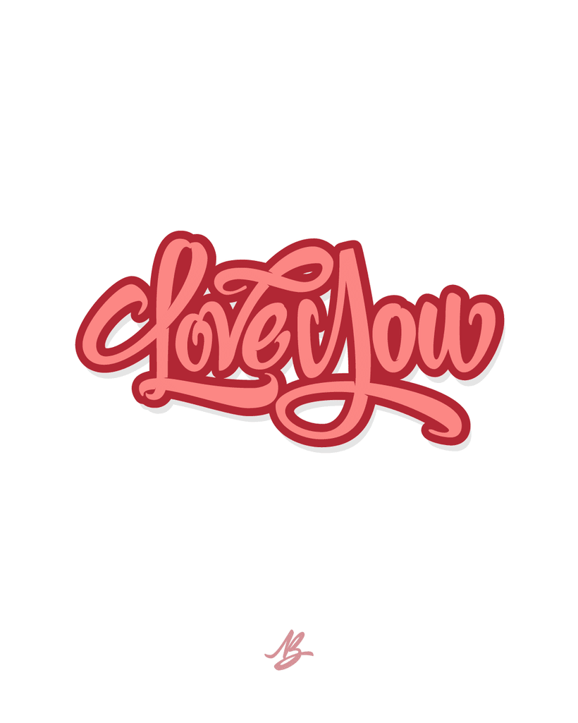 Love You / Lettering -1