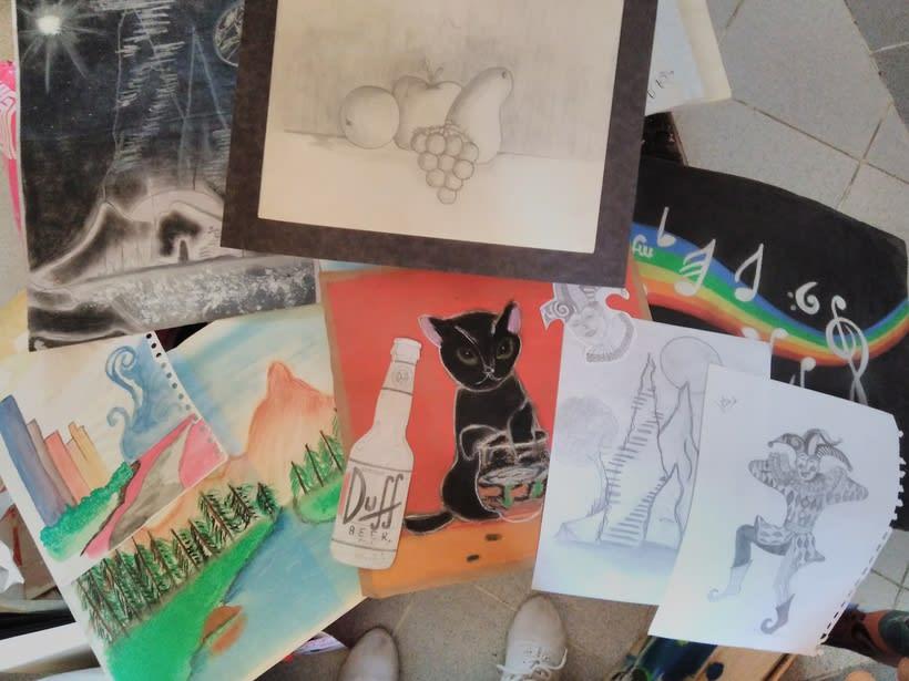 Dibujos hechos en mi niñez. -1