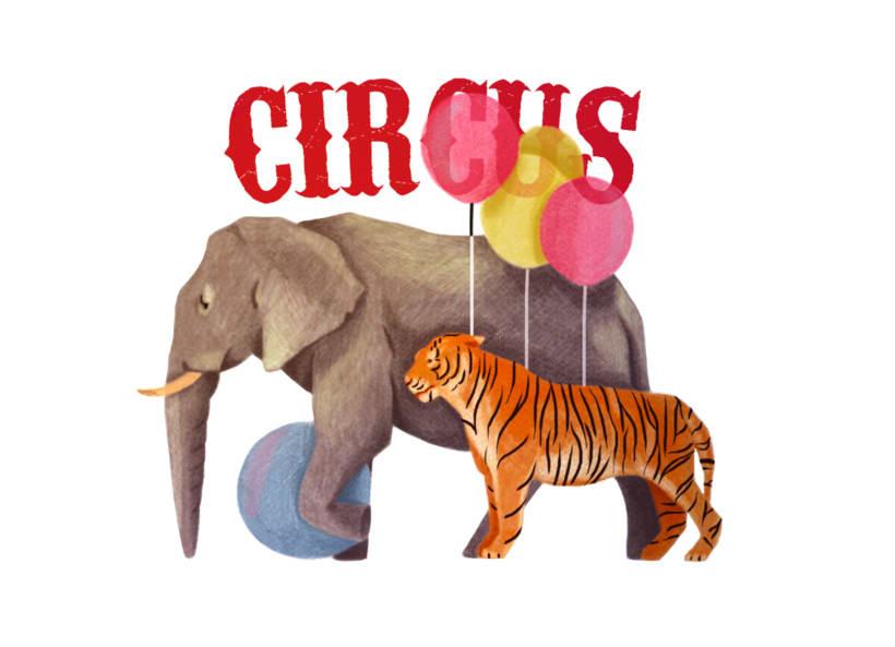 Mi Proyecto del curso: Ilustración digital con lápices de colores . Circus -1