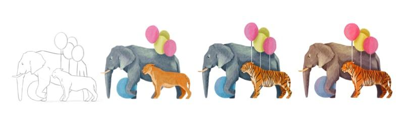 Mi Proyecto del curso: Ilustración digital con lápices de colores . Circus 0