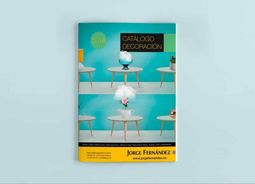 Línea gráfica para los catálogos de producto de Jorge Fernández  1