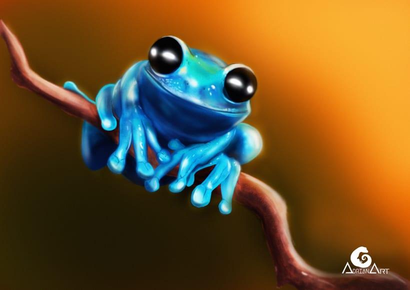 Blue frog + Speedpaint 0