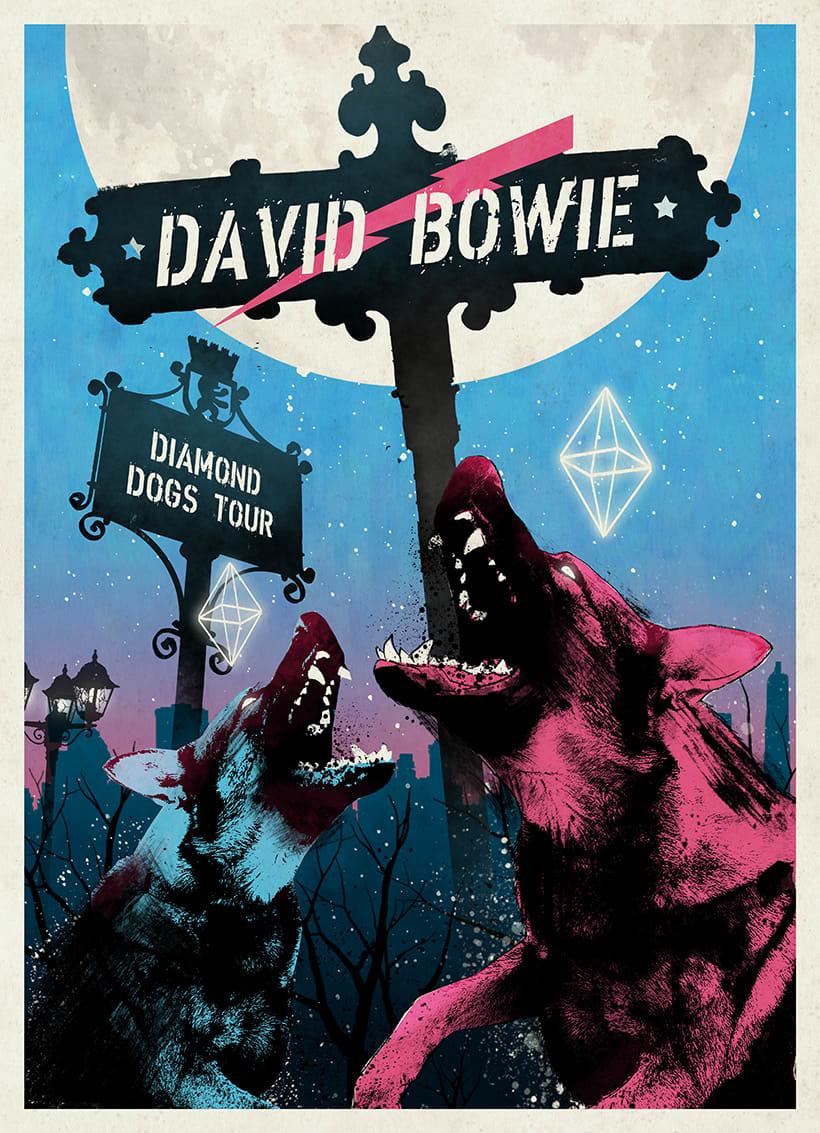 Diamond Dogs: Cartel homenaje David Bowie 0