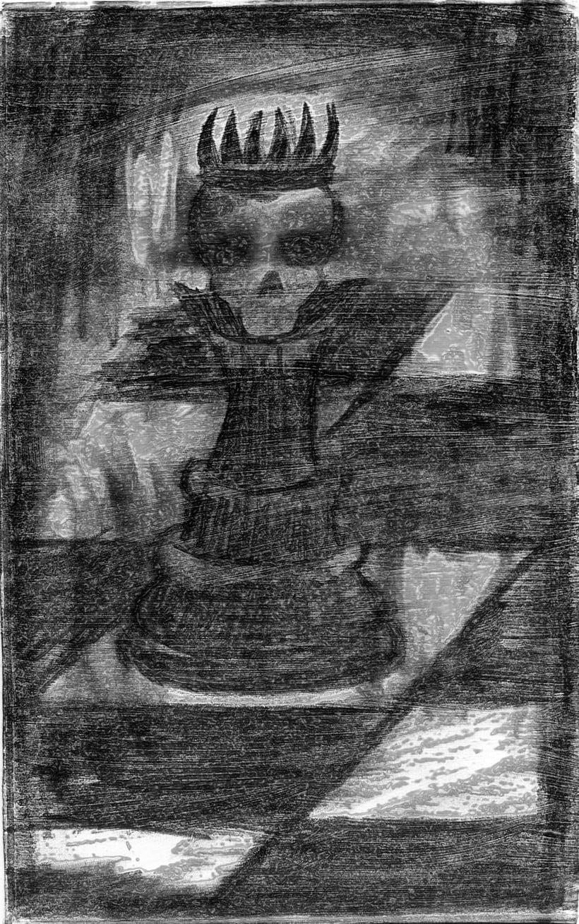 La Dama. Dibujo a lápiz con intervención digital 0