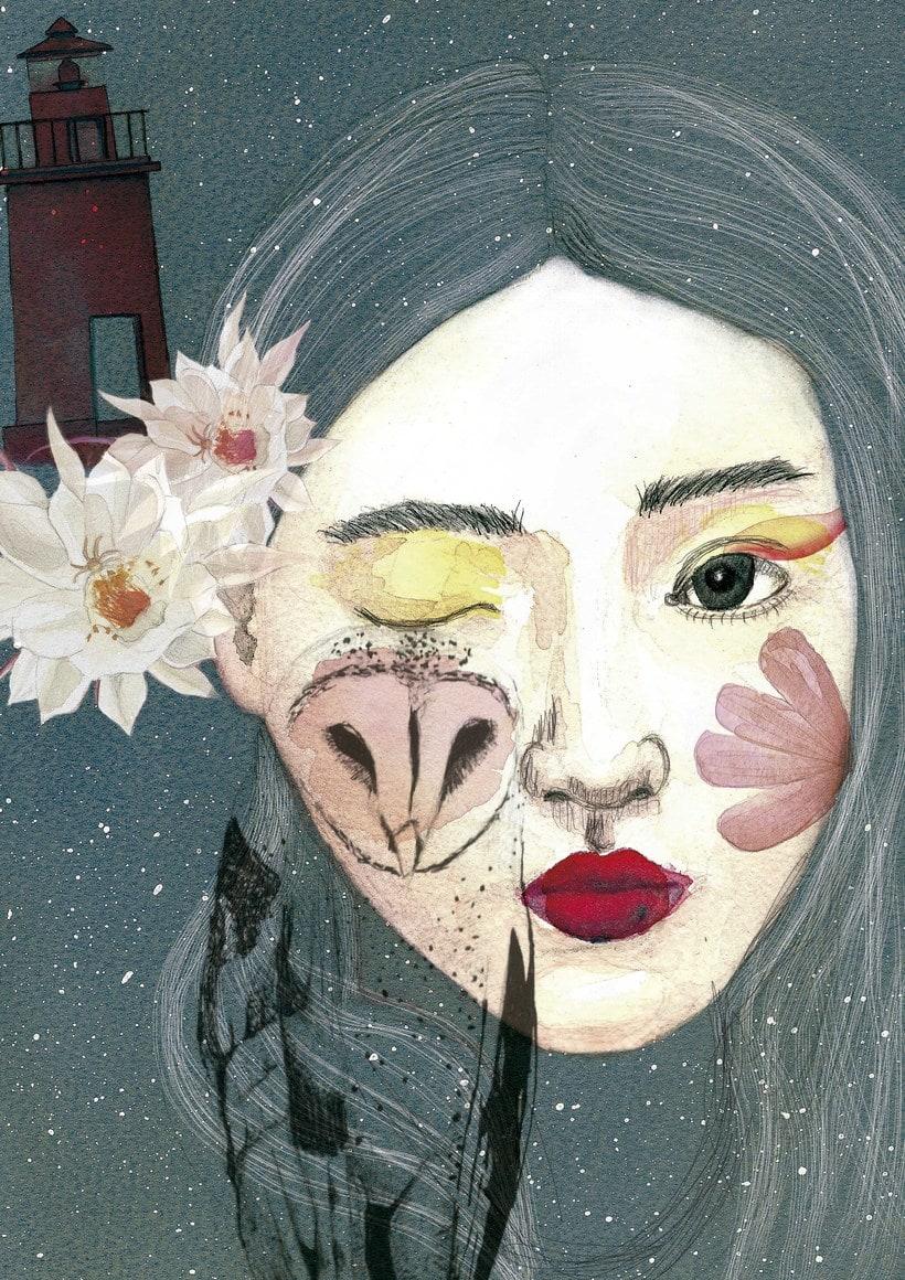 Mi Proyecto del curso de Ana Santos: Retrato ilustrado en acuarela -1