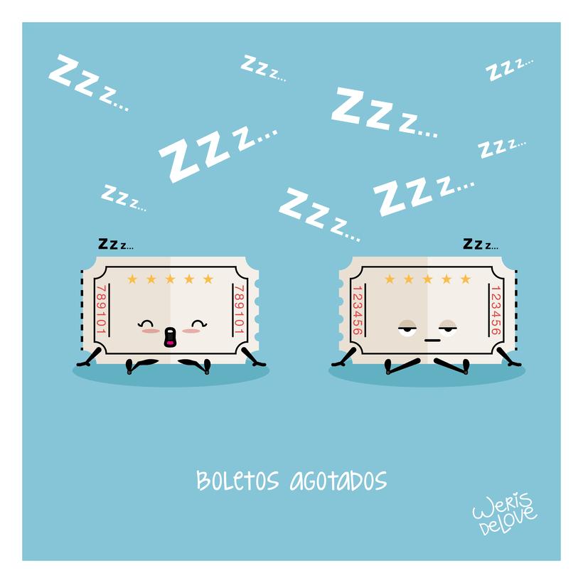 BOLETOS AGOTADOS Ilustración y GIF -1