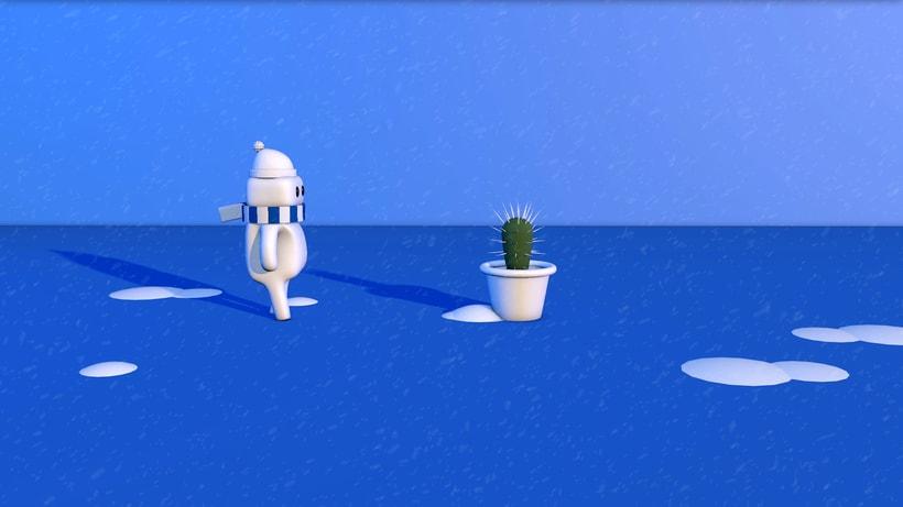 Corto animación 3D sobre el invierno. -1