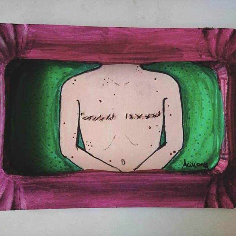 TETAS SIN CENSURA.  reutilizo bandejas de cartòn y otros materiales para dar vida a cuerpos femeninos en 3D.   3