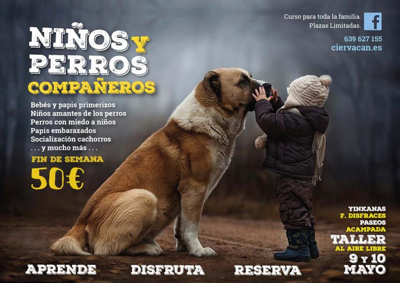 Cartelería. Adiestradora y educadora canina. 0