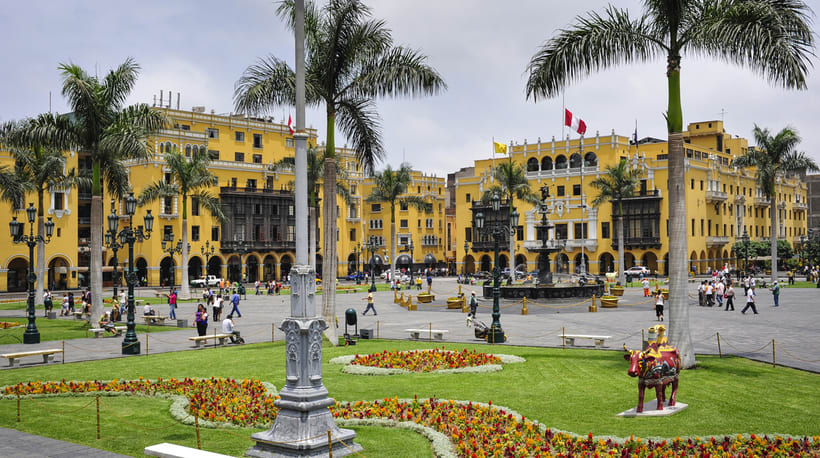 Perro peruano en plaza de armas de Lima, Peru  1