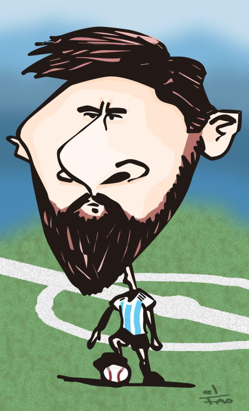 Caricatura Lionel Messi -1