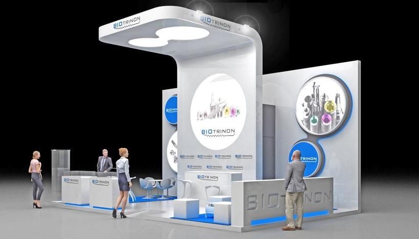Diseño de stand Biotrinon para feria Expodental 2018-Madrid -1