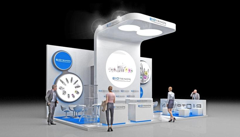Diseño de stand Biotrinon para feria Expodental 2018-Madrid 0