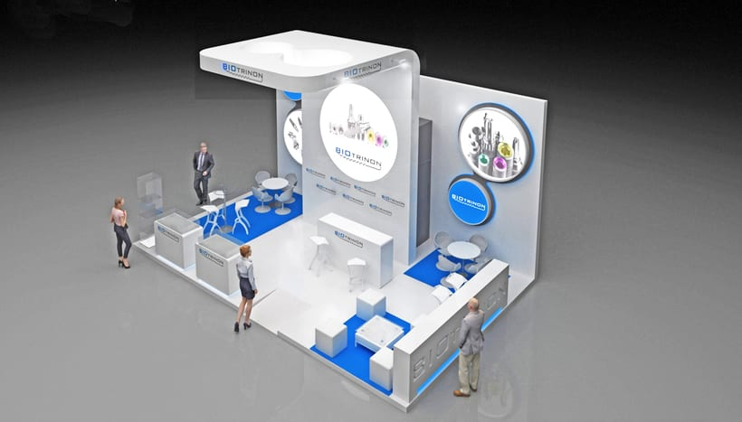 Diseño de stand Biotrinon para feria Expodental 2018-Madrid 2