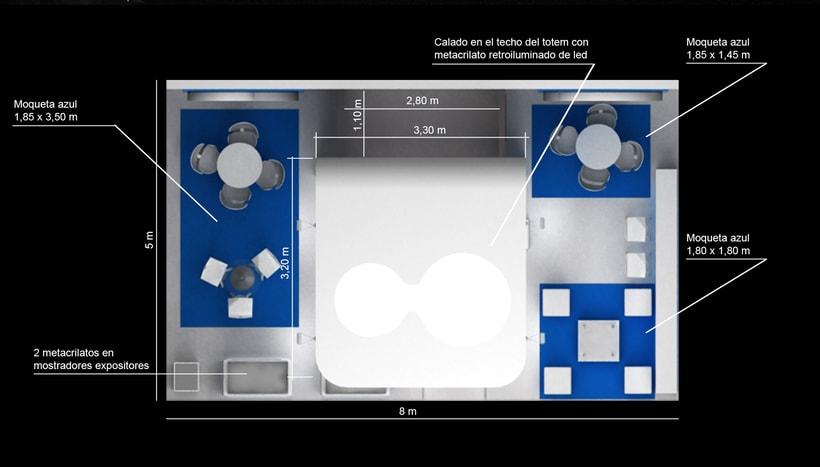 Diseño de stand Biotrinon para feria Expodental 2018-Madrid 3